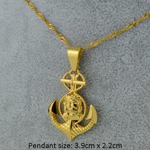 Cross Jesus Anchor Pendant & Necklace Women Men Unisex,18k Yellow Gold Plated Crucifix Jewelry Christian Wholesale Gold Jewellry(China (Mainland))