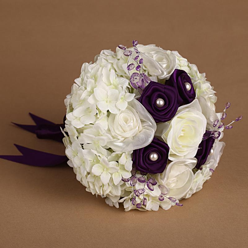 Achetez en gros violet rose bouquets de mariage en ligne des grossistes vio - Vente a terme avec bouquet ...
