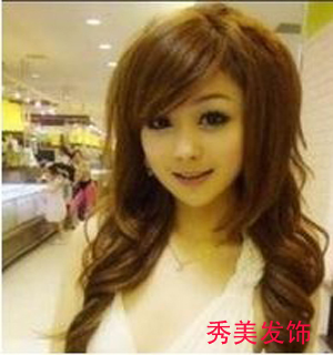 Wig non-mainstream wig women's fluffy wig female long curly hair wig female