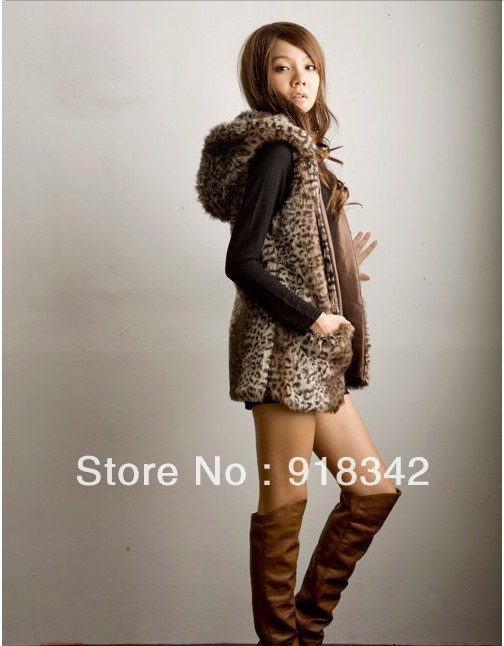 ! New Womens Fashion Hill-collar Faux Fur Vest Ladies GILET Hat Coat Sleeveless - Gift World store