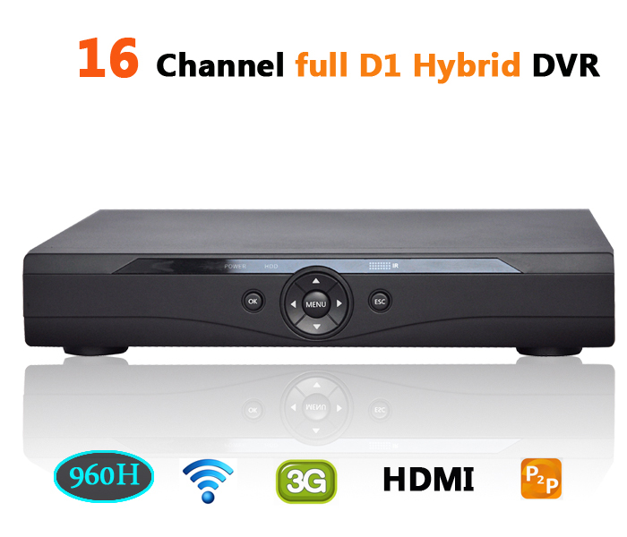 DVR 16 channel full D1 Hi3521 support HDMI 3G WIFI P2P cloud HVR NVR 16ch stand alone video ip dvr CCTV video recorder(China (Mainland))