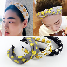Buy Smiling face hair band hoop Hot Sales Hairband Headwear Brief Fashion Girls Women Headband Lovely Hair Accessories Headdress for $1.49 in AliExpress store