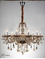 Luxury 10 Lights arm Chandelier large modern pendant crystal light deluxe k9 crystal lamp chandelie lustre