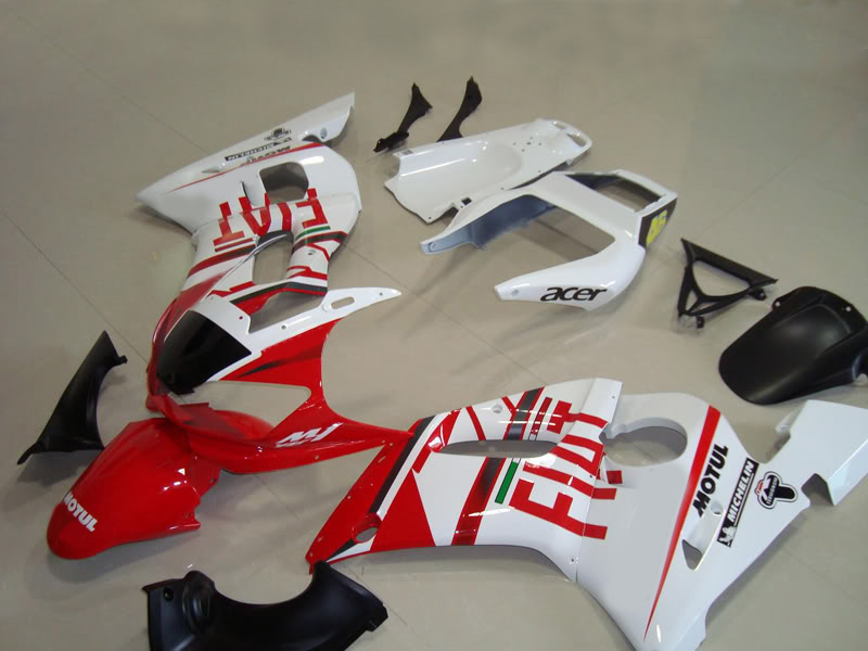 Custom Motorcycle Fairing kit for YZFR6 98 99 00 01 02 YZF R6 1998 2000 2002 YZF600 White hot red Fairings set+7gifts YD10(China (Mainland))