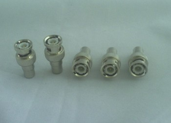 Straight Metal BNC male to RCA Female Connector  Terminals free shipping