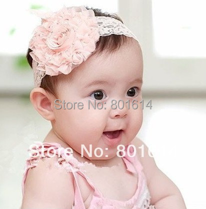 Hair Accessories new Lace Flower Newborn Baby Infant Toddler Kid Girl Headband Christening Elastic th01