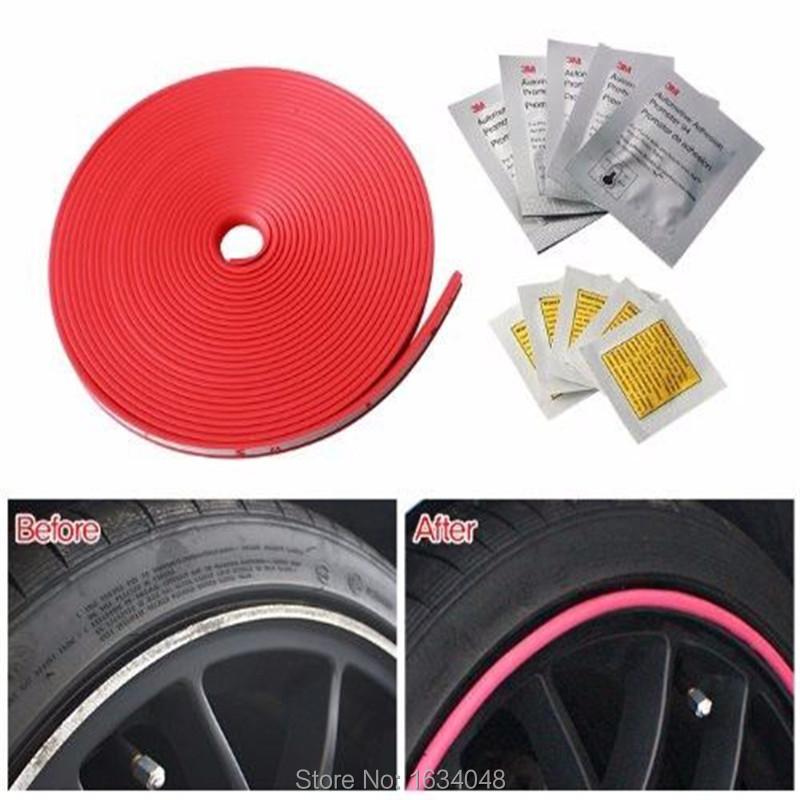 8M/pcs New Car Styling Car Vehicle Wheel Rims Protector Tire Guard Motors Line Rubber Moulding(China (Mainland))