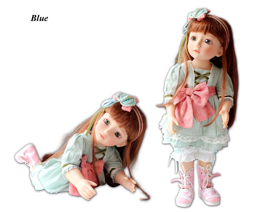45cm Vinyl cute Girl  princess Doll  SD/BJD jointed dolls toys/similar as american girl toys birthdays gift