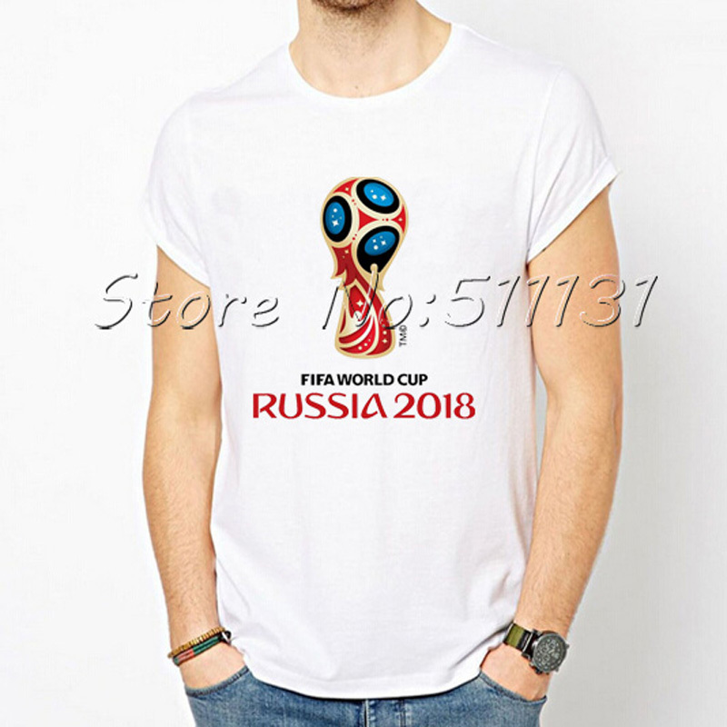 Newest High Quality 2018 Russia WORLD CUP FOOTBALL Putin Printing Lovers T-shirt Fashion Summer Sport Fitness T shirts Tops(China (Mainland))