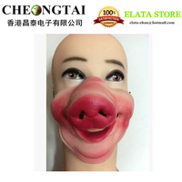 Halloween Funny Mask, Costume Ball supplies, Pig Nose Half Face Mask