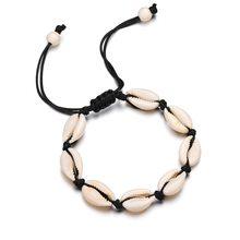 Bohemia Handmade dây có thể điều chỉnh độ dây chuyền vỏ Tự Nhiên Vòng Tay Vỏ Ốc chân Vòng Tay Đính Hạt vòng tay cheville cho phụ nữ đi biển(China)