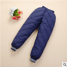 free shipping 2015 new winter children's clothing kids down pants baby boys and girls casual sport pant children down coat(China (Mainland))