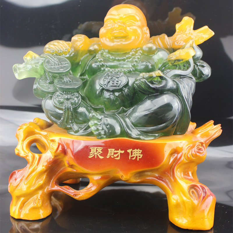 Enrichment opening evil Lucky Buddha resin crafts ornaments home decor gift ideas wholesale P044(China (Mainland))