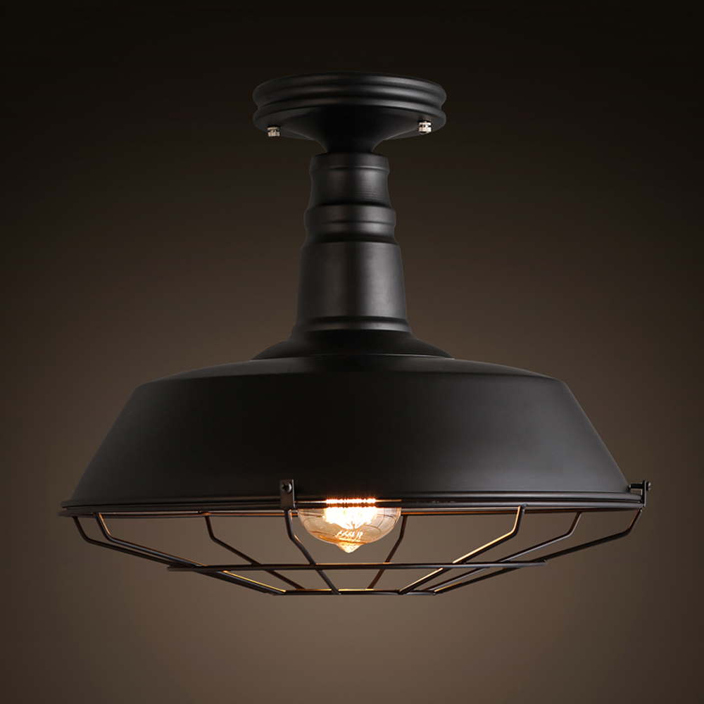 Aliexpress.com : Buy Industrial Style Classic Black Fan Shaped Ceiling Lamp Use Edison Bulb Loft ...