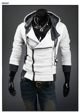 Free shipping 2015 Autumn & Winter Men Brand Fashion Casual Slim Cardigan Assassin Creed Hoodies Sweatshirt Outerwear Jackets(China (Mainland))