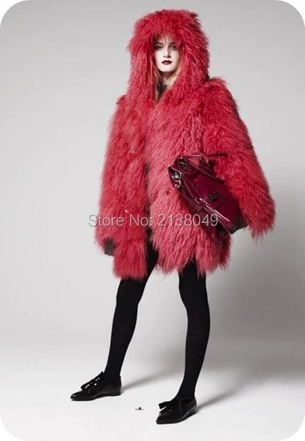 FC045 Теплые Зимние Меховые Пальто/Женщин Толстые Теплые Меховой Моды Пальто/На Заказ