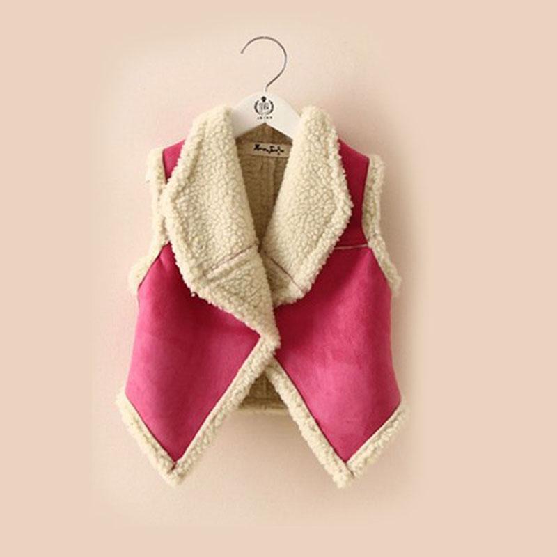 autumn winter fur girl vest fashion korean childrens