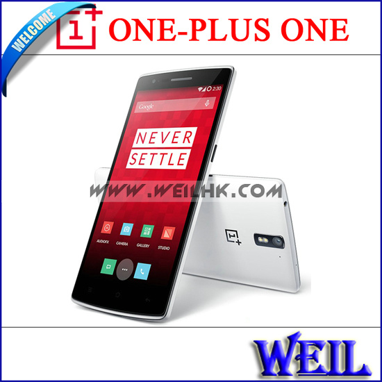"OnePlus one ONE PLUS ONE 4G LTE FDD 64GB ROM Cell Phones 5.5"" 1920*1080P Snapdragon 801 3GB+16GB 5MP+13MP Android 4.4(China (Mainland))"
