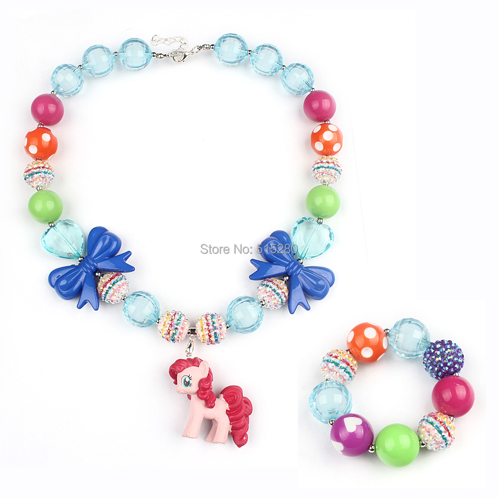 2 set blue chunky gumball with bracelet my