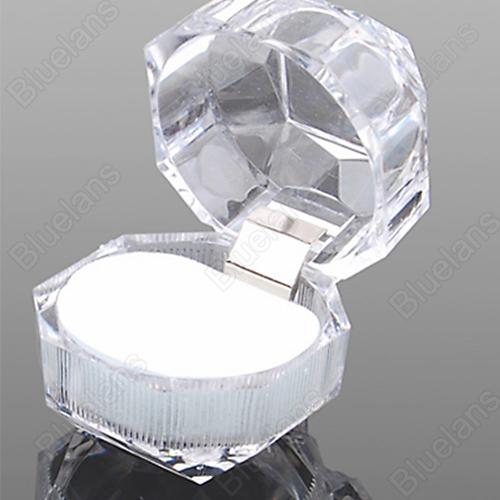 Wholesale Acrylic Ring Display Box Storage Organizer Gift Package Carrying Case Transparent Wholesale 1NHF(China (Mainland))