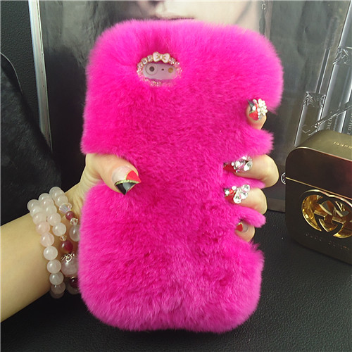 Real rex rabbit fur case iphone 5s 6 6Plus samsung luxuxy new covers mobile phone bags & cases Superarrow factory outlet - OKO Co Ltd store