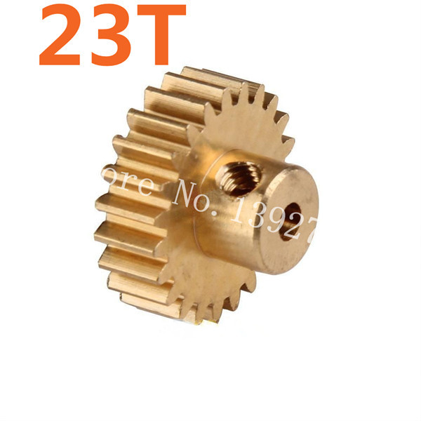 HSP Parts 11153 Motor Gear 23T Metal Brass Pinion For 1/10 Electric Model Car Buggy 94107 94170 DESTRIER EP Pro XSTR Hobby Baja(China (Mainland))