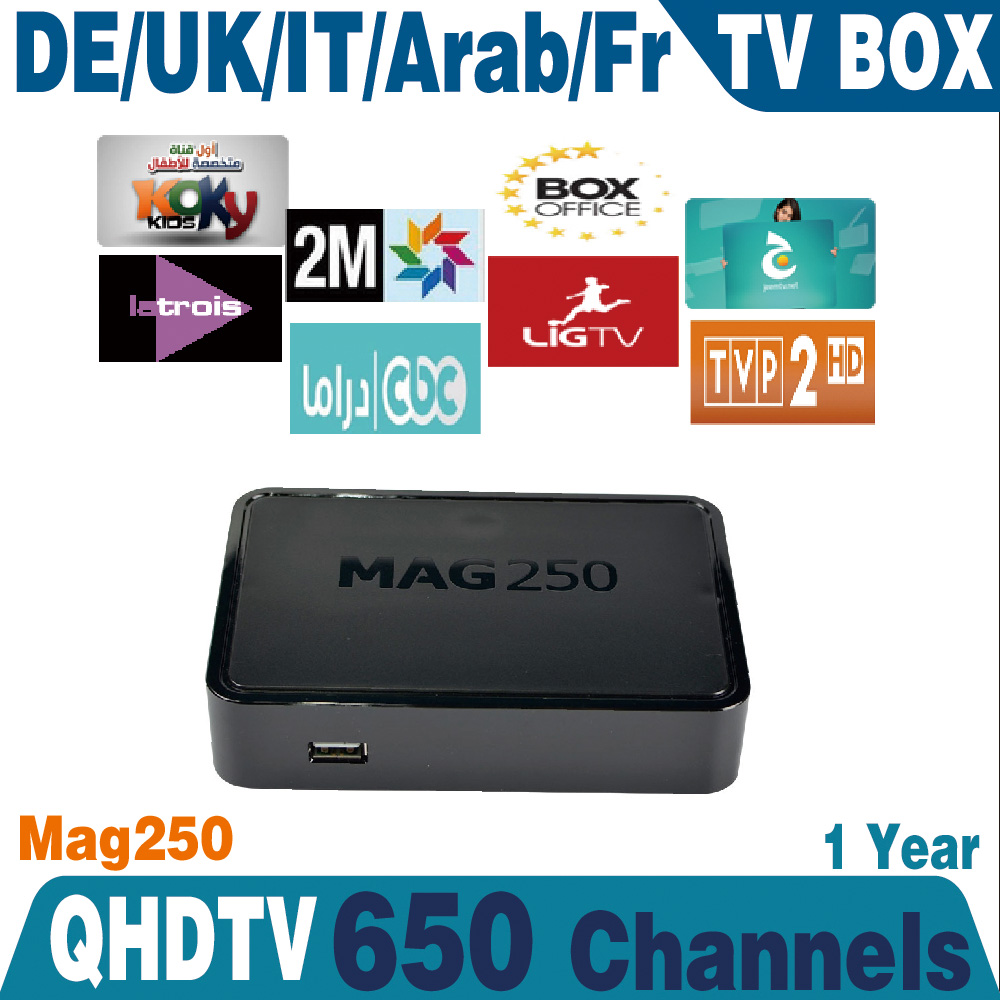 Linux arabic iptv box MAG25 Europe IPTV Account 1year Subscription Sports Canal MAG250 French Arabic IPTV