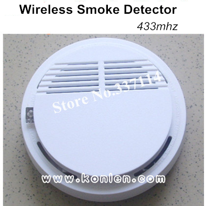 buy fire alarm wireless smoke detector de humo 433mhz standalone or link with. Black Bedroom Furniture Sets. Home Design Ideas
