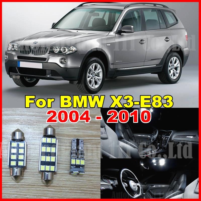 13pcs Pure White Canbus No Error Free LED Car Light for BMW X3 E83 LED Interior light LED Kit 2004 2005 2006 2007 2008 2009 2010(China (Mainland))