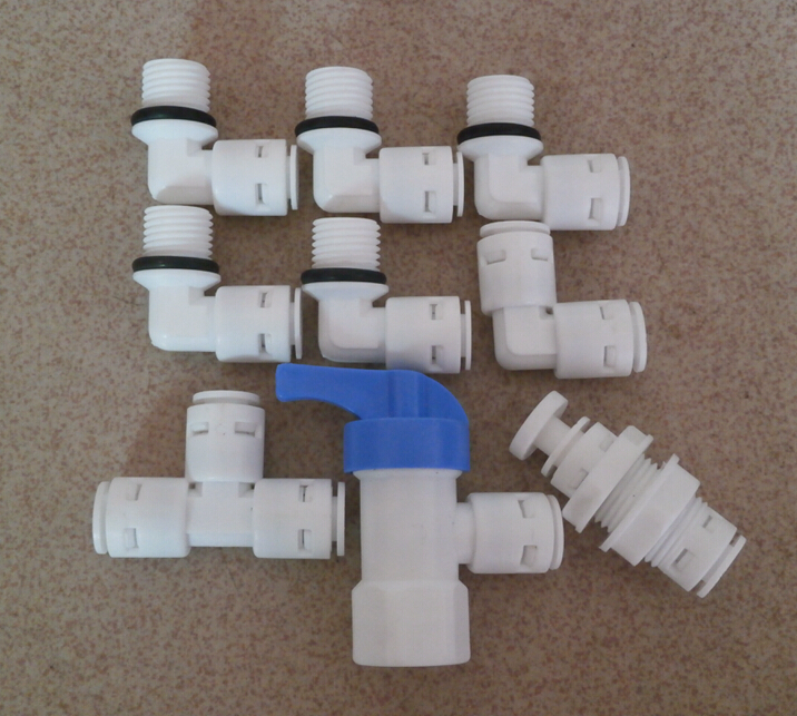 9pcs 2015 water filter parts fitting 1 4 without clip water purifier household for reverse osmosis