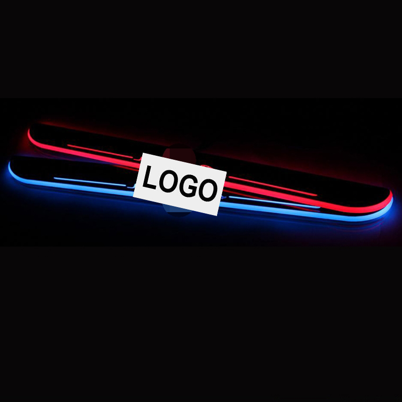 plate door outside sill sills Trim Car Accessories Welcome pedal LED Jaguar XF 12-15 - yourstars store