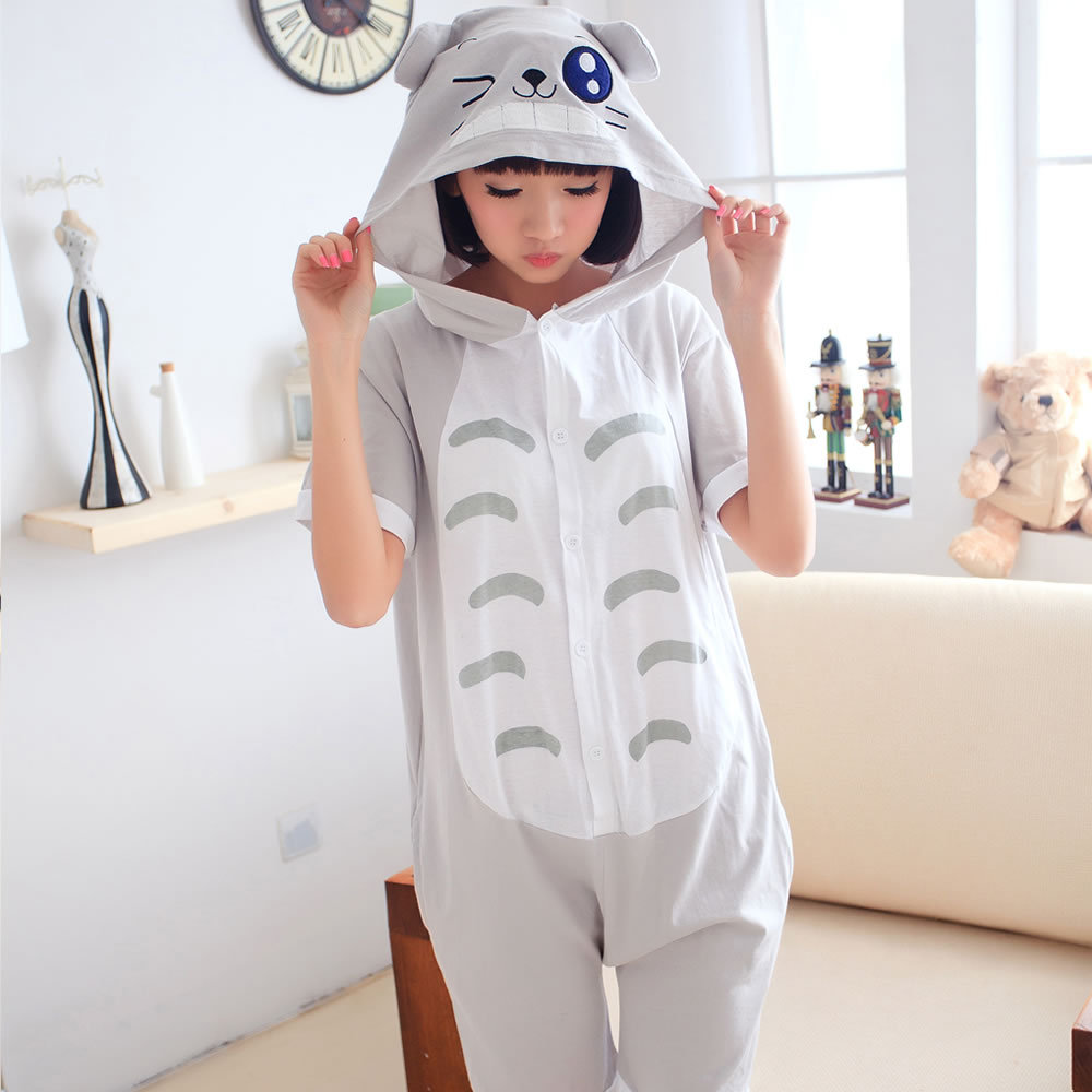 Spring and summer animal cartoon short sleeved cotton pajamas and lovely couple Siamese pajamas clothing size Home Furnishing ToОдежда и ак�е��уары<br><br><br>Aliexpress