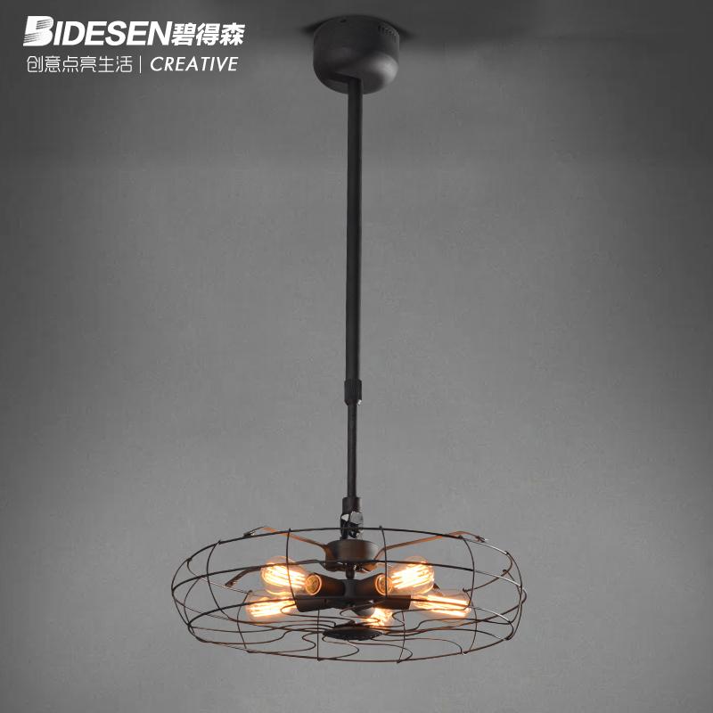 Bidesen RH Loft retro lighting American country industrial wind fan chandelier simple personality(China (Mainland))