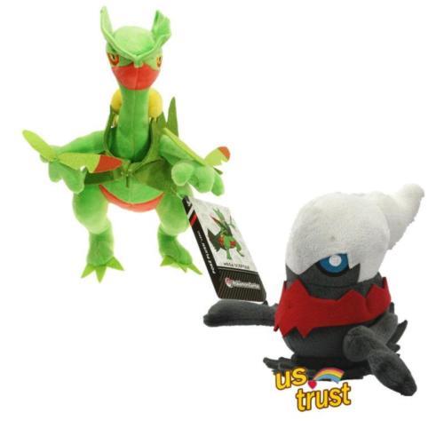 "2pcs/Set Pokemon Center 9.5"" Mega Sceptile & 5"" Darkrai Plush soft Doll Anime Animal Stuffed Plush Toys(China (Mainland))"