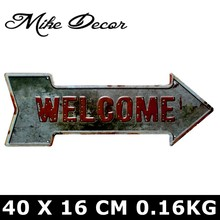 [ Mike86 ] Coffee Beer Garage cupcake Exit Vintage Arrow Irregular Tin Sign Gift Craft Wall Plaque Cafe Supermarket Decor YC-649(China)