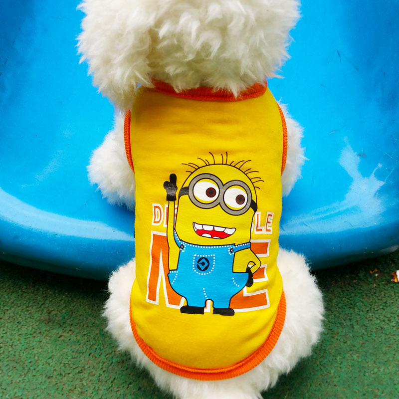 Lovely Pet Dog Clothes Vest High Fashion For Pet Dog Clothes Clothing Spring Summer small big dog clothing Yellow Color XS XL(China (Mainland))