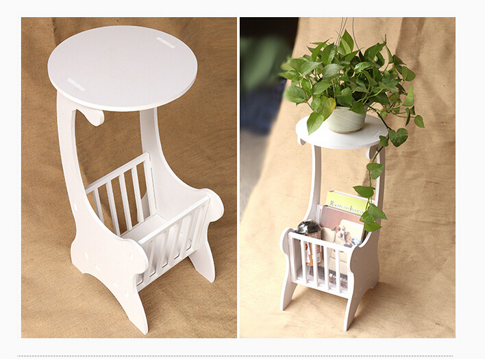 Free shipping north europe rococo design plastic environmental lamp stand waterproof side table fireproof coffee table T01(China (Mainland))