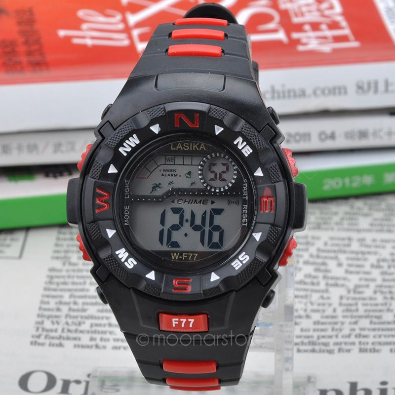 Men Sports Watches 30M Waterproof Fashion Casual Quartz Watch Digital LED Military Multi Function Wristwatches 6