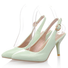 2015 HOT Summer style Mint green heels Women Pumps Plus size(34-43) Sexy Cheap online store The single sold Wholesale KABU-9040