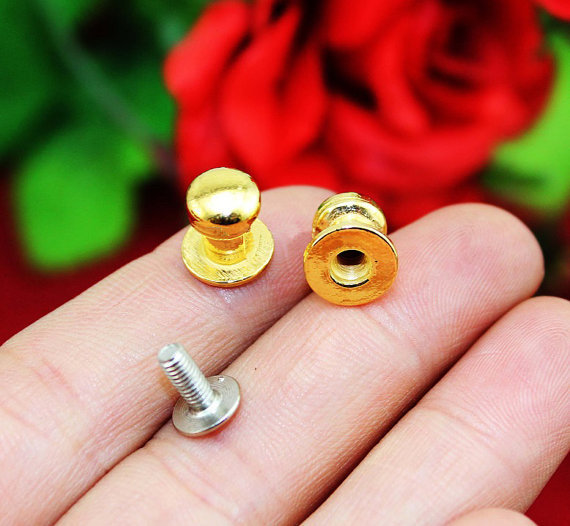"0.27""(7x10mm) Metal Nipple Nail Golden Color Mini Knobs,Tiny Drawer Knob Pulls, Carton Box Jewelry Box Cabinet Single Hole Konb(China (Mainland))"