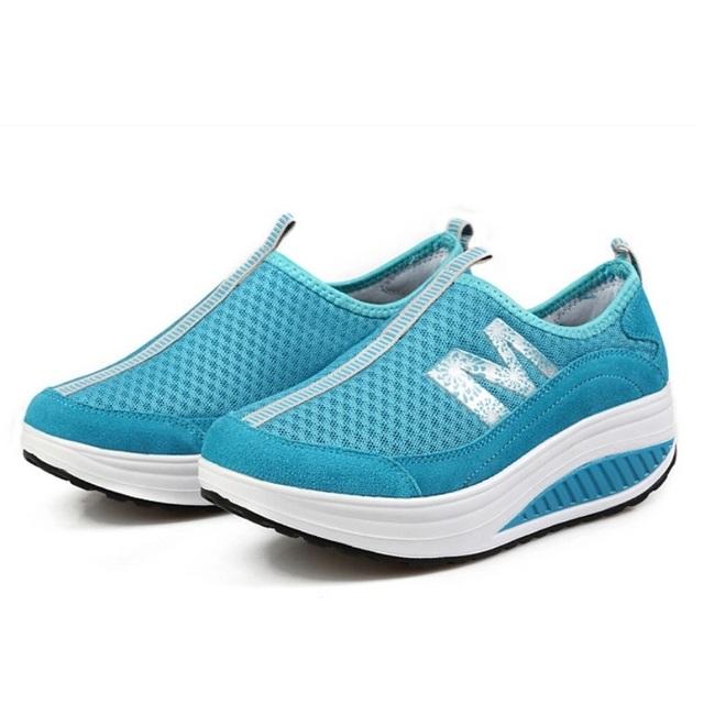 2016 Новый женщины качели обувь женская повседневная обувь потеря веса женские летние ...