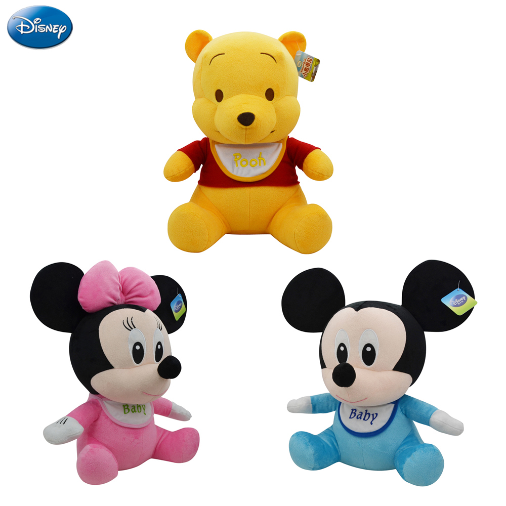 Disney Genuine Winnie The Pooh Mickey Mouse Minnie Lilo and Stitch Baby Plush Stuffed Toys 21cm Cute Doll Toys for Children Girl(China (Mainland))