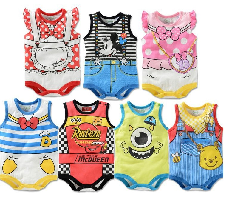 Hot Baby Kids Children Rompers Fit 0-2Yrs Boys Girls Short Sleeve Romper Hoodies One-Piece Clothing 21PcsLlot 7 Colors 3 Size - sonia hu's store