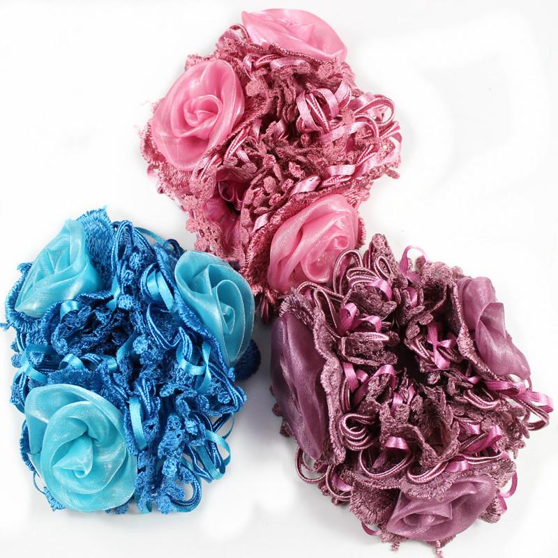 High-grade fashion chiffon headdress flower hair accessories wholesale hair bands(China (Mainland))