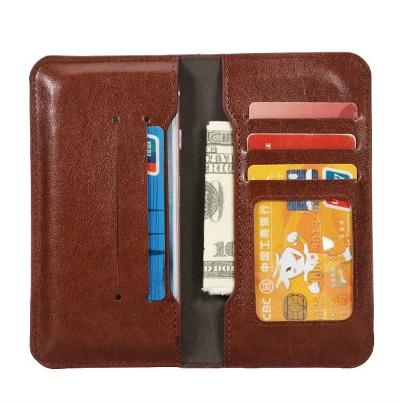 PU Leather Universal Wallet Case For motorola v3 Card Slots Universal 4.8-5.8 Inch Pouch cases cover(China (Mainland))