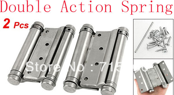 """2 x 4"""" Stainless Steel Double Action Spring Door Hinges"""