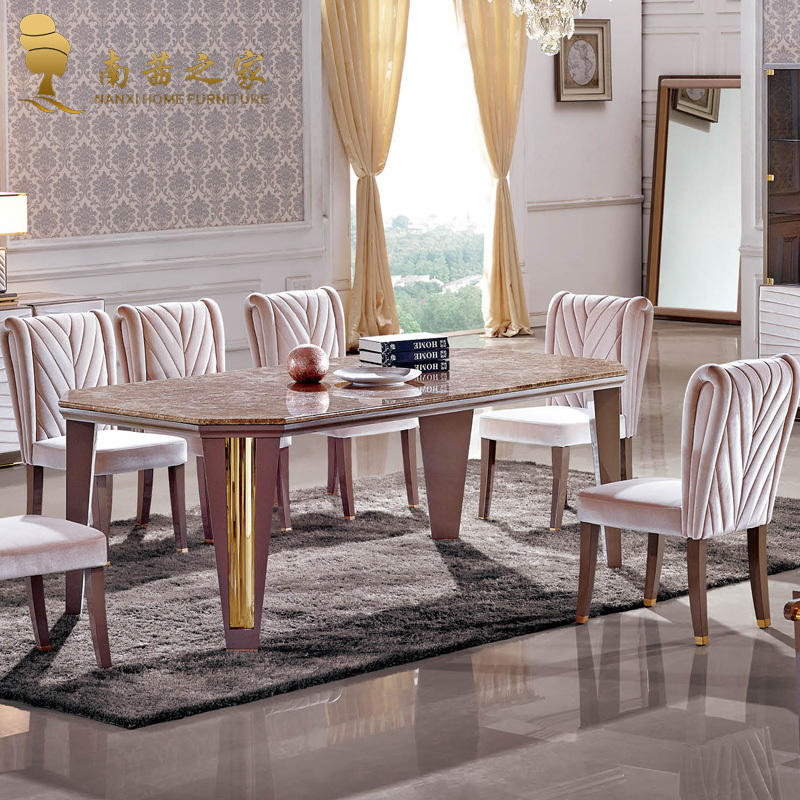 Italian design high quality home furniture nature marble for High quality dining room furniture