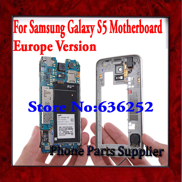 100% Original & Europe Version Unlocked Motherboard For Samsung Galaxy S5 G900F Mainboard with Chips Free Shipping,Good Working