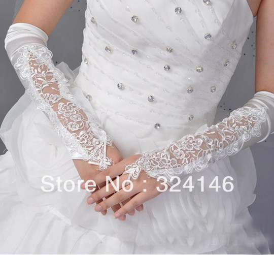 S144-Cheap!!  New Bridal gloves Wedding Gloves fingerless gloves beautiful bowknot gloves retail Wholesale wedding accessory