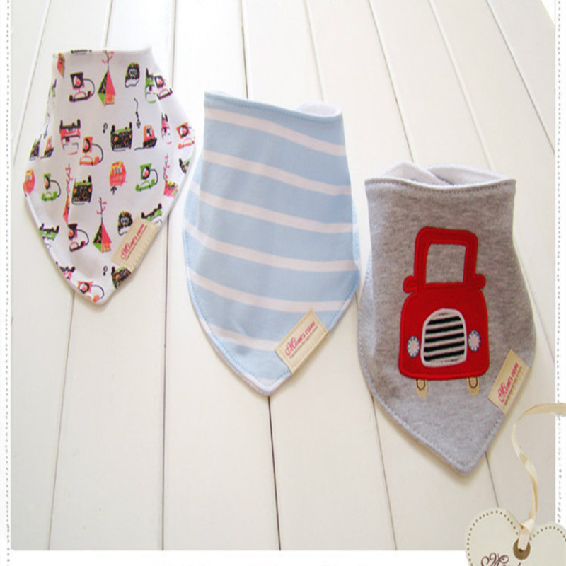 Cartoon Animal Printing BIB Towel Cotton Kids Infant Baby Saliva Towel(China (Mainland))
